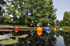 Botanical Gardens. St. Louis Botanical Gardens water scene Royalty Free Stock Images