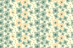 Free Botanical Motifs Seamless Vector Texture. Little Flowers Stock Photo - 124752070