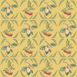 Pattern with apple and rowen branch. royalty free illustration