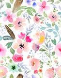 Botanical seamless pattern Stock Photos
