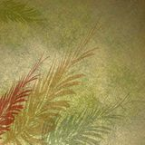 Botanical textured background. Earth tone textured background with fronds stock illustration