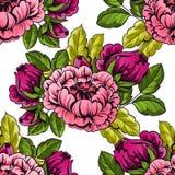 botaniczny deseniowy bezszwowy Fotografia Royalty Free