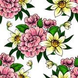 botaniczny deseniowy bezszwowy Zdjęcie Royalty Free