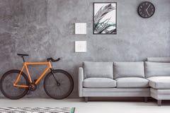 Botaniczny plakat i miastowy bicykl fotografia stock