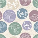 Botanisch patroon met gebladerte Royalty-vrije Stock Afbeelding