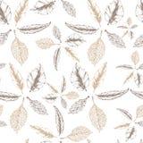 Botanisch waterverf naadloos patroon Mooie vectorhand getrokken textuur Romantische achtergrond voor Web-pagina's, huwelijk royalty-vrije illustratie