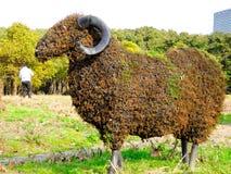 Botanische Skulptur der Schafe stockbild