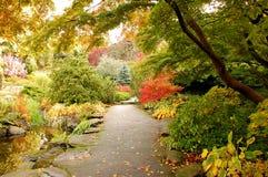 Botanische tuin in de herfst royalty-vrije stock afbeeldingen