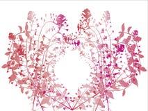 Botanische vectorachtergrond Stock Afbeeldingen