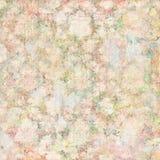 Botanischer Frühlingsmit blumenhintergrund der Weinlese in den weichen Pastellfarben lizenzfreie abbildung