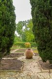 Botanischer Garten an Balchik-Palast Stockfotos