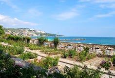 Botanischer Garten an der Küste Stockbild