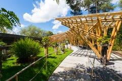 Botanischer Garten im Quito-Japanerbereich lizenzfreie stockfotos