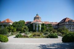 Botanischer Garten Münchens im Sommer Stockfoto