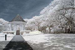 Botanischer Garten pavillion lizenzfreie stockfotos