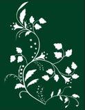 Botanischer Hintergrund der Blumen und der Blätter stock abbildung