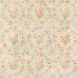 Botanischer rosa Blumenrosenhintergrund der antiken Weinleseart vektor abbildung