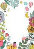 Botanisk blom- ram Arkivfoton