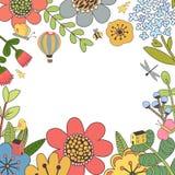 Botanisk blom- ram Arkivbild