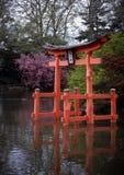 botanisk brooklyn trädgårds- pagoda arkivbilder