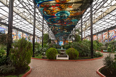 botanisk cosmovitral trädgårdtoluca Arkivfoto