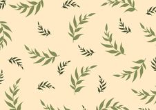 Botanisk dekorativ illustration för vektor royaltyfri illustrationer