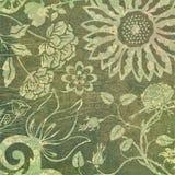 Botanisk grungebakgrund Arkivbild