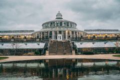 Botanisk har i Köpenhamnen, Danmark royaltyfria bilder