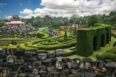 Botanisk trädgård i Thailand arkivbild
