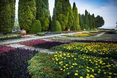 Botanisk trädgård på den Balchik slotten i Bulgarien Arkivbilder