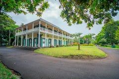 Botanisk trädgård Pamplemousses, Mauritius arkivbild