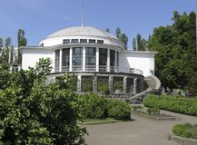 Botanisk trädgård som namnges efter A V Fomin i Kiev arkivbild