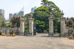Botanisk trädgård utfärda utegångsförbud för Arkivbilder