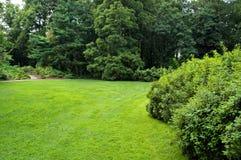 botanisk trädgårdlawn arkivbild
