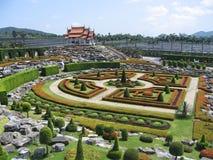 botanisk trädgårdnongnuch pattaya Arkivbild