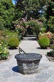 botaniska christchurch arbeta i trädgården rosundialen Arkivbilder