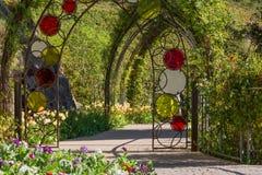 Botaniska trädgårdarna av Trauttmansdorff rockerar, Merano, södra tyrol, Italien, Fotografering för Bildbyråer