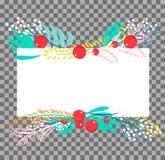 Botaniskt baner för vektor Arkivfoton