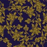 Botaniskt blad för antik sömlös bakgrundsnatur vektor illustrationer