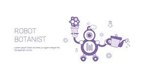Botaniste Template Web Banner de robot avec l'espace de copie Image libre de droits