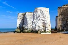 Botany Bay Broadstairs Kent England. Chalk Cliffs at Botany Bay beach at Broadstairs on the Kent Coastline England UK Royalty Free Stock Images