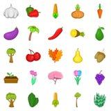Botany icons set, cartoon style. Botany icons set. Cartoon set of 25 botany vector icons for web isolated on white background Royalty Free Stock Photography