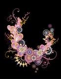 Botany swirl pink Stock Image