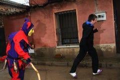 Botarga of RAZBONA Carnival. SPAIN Stock Photos
