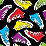 Botas coloridas brilhantes do teste padrão sem emenda ilustração royalty free