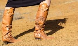 Botas da mulher Imagens de Stock Royalty Free