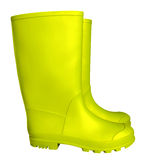 Botas de borracha - amarelo Imagens de Stock Royalty Free