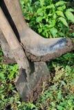 Botas de borracha de trabalho Fotografia de Stock