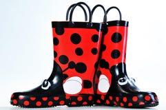 Botas de borracha para crianças Imagem de Stock Royalty Free