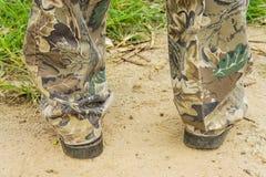 Botas de Brown para homens Imagem de Stock Royalty Free